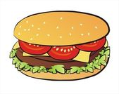 Cheseeburger isolated illustration — Stock Vector