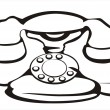 Retro telephone symbol - Stock Vector