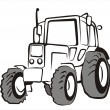 Stock Vector: Tractor isolated vector illustration