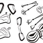 Climbing equipment goods and stuff — Stock Vector #5109372
