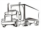 Truck, vrachtwagen, iosolated illustratie — Stockvector