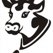 Smiling cow portrait symbol — Stock Vector