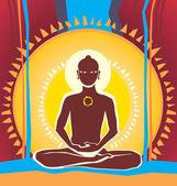 Meditating — Stock Vector