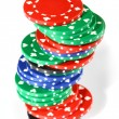 Stack of poker color chips — Stock Photo