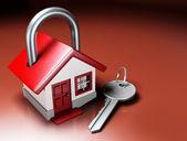 House Lock and Key — Stock Photo
