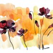 Abstract painted floral background — Stock Photo