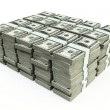 Stack of 100 $US bills — Stock Photo #5286912