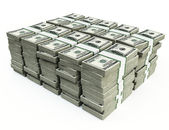 Stack of 100 $US bills — Stockfoto