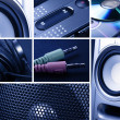 Collage of music - Stock Photo