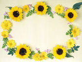 Floral frame-018 — Stock Photo