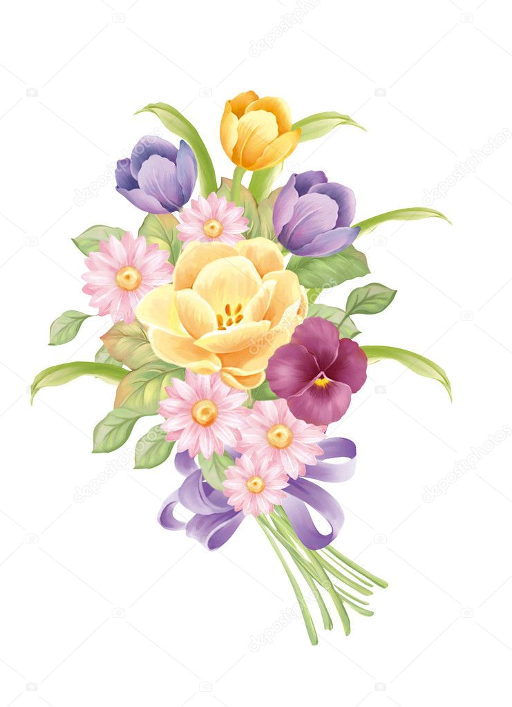 Illustration with beautiful tulip decoration  — Stock Photo #4920937
