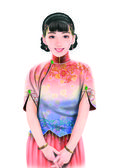 Hand drawing- chinese woman 046 — Stockfoto