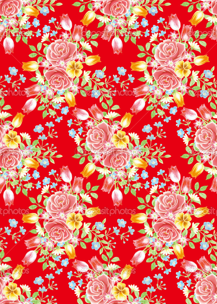 Red rose background element design pattern  — Stock Photo #5164279