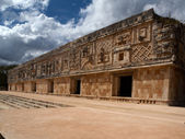 The West Building of the Women's Monastery in Uxmal, Mexico — Stock Photo