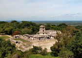 Palace and the observatory in Palenque — Stock Photo