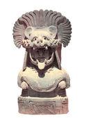 Goddess in the jaguar mask — Stock Photo