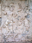 Ancient Mayan bas-relief in Palenque — Stock Photo