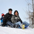Foto Stock: Snow Slide