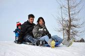 Slide de neve — Foto Stock