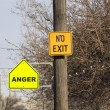 No Exit-Anger — Stock Photo #4931710