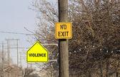 Aucune sortie-violence — Photo