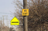 No Exit-Anger — Stock Photo