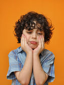 A Kid`s Sad Face — Stock Photo