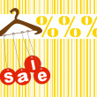 Retail sale hanger — Stock Photo