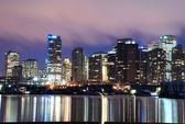 A night scene of downtown Vancouver — Stock Photo