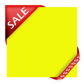 Red corner ribbon with sale sign — Stock Photo