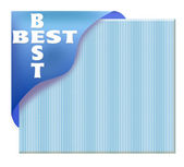 Blue corner ribbon with best sign — Stock Photo
