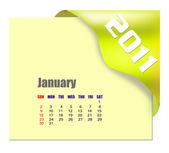 January of 2011 calendar — Stock Photo