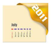 2011 年 7 月カレンダー — ストック写真