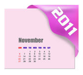 November of 2011 calendar — Stock Photo