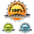 Colorful label of money back guarantee — Stock Photo