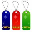 Colorful sale and discount tags — 图库照片