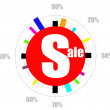 Stock Photo: Sale and discount poster