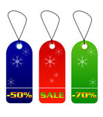 Colorful sale and discount tags — Stock Photo