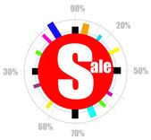 Sale and discount poster — Stock Photo