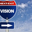 Vision road sign - Stock Photo
