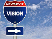 Vision road sign — Stock Photo