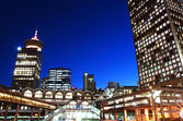 Night city view of downtown Vancouver — Stock Photo