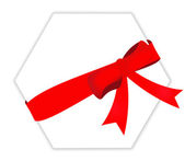Red gift ribbon bow — Stock Photo