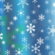Snowflakes background for christmas — Stock Photo