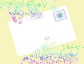 Busta di fiore con timbro — Foto Stock