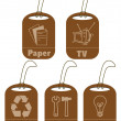 Ecology and recycle tags for environmental design — Stockfoto