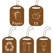 Ecology and recycle tags for environmental design — Stock Photo