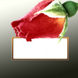 Royalty-Free Stock Photo: Red rose card on black background