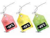Retail sale price tags for every shopping season — Stock Photo