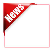 Red corner ribbon with news sign — Stock Photo